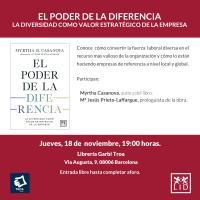 Presentación de El poder de la diferencia en Barcelona